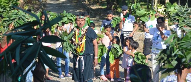 Taita Pablo en Ceremonia de Armonizacion ASOMI Mocoa, Ptmyo 2