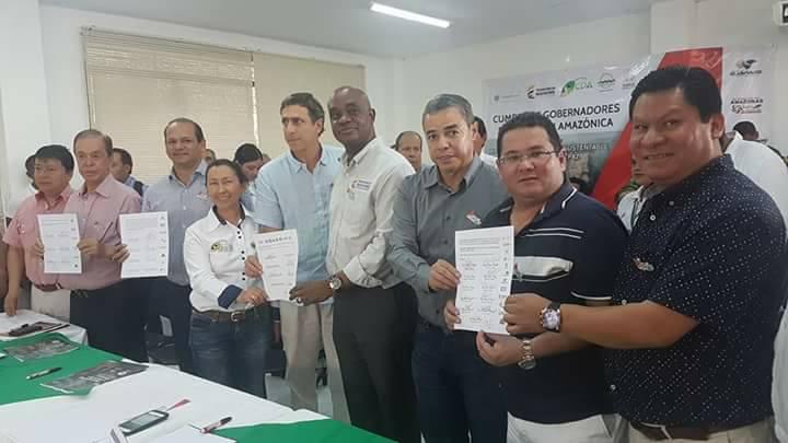 Gobernadores Región Amazónica y Ministro de Medio Ambiente