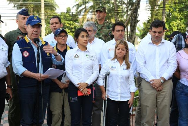 Hoy, el Gobierno Nacional hizo presencia en el municipio de Mocoa, Putumayo, donde se dieron a conocer importantes anuncios en materia de vivienda y agua potable. Foto: René Valenzuela (MVCT)