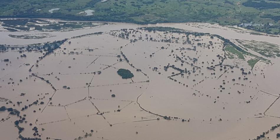 Aguas de los ríos Magdalena y Cauca, ejes de nuestra sostenibilidad económica y social, también amenazan con inundar varias poblaciones que se encuentran en su zona de influencia. Foto: Cortesía Alba Marina Girón/Dapard