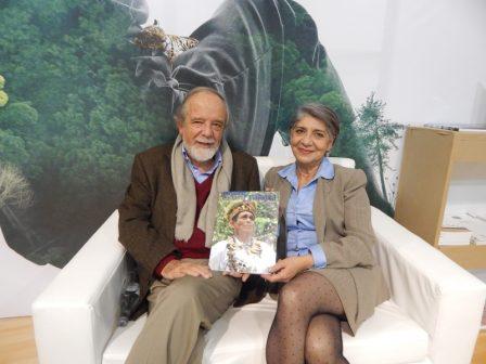 rnesto Guhl Nannetti, editor de la revista Colombia Amazónica, y Luz Marina Mantilla Cárdenas, directora general Instituto SINCHI. Foto: Marisol López Franco.