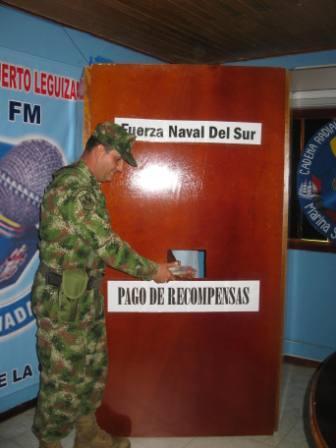 Pago de recompensas en Puerto Leguízamo