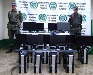 La Policía Nacional en el departamento del Putumayo, logró recuperar 10 equipos de cómputo que habían sido hurtados meses atrás en un centro educativo con cede en el municipio de la dorada en el Departamento de Policía Putumayo.