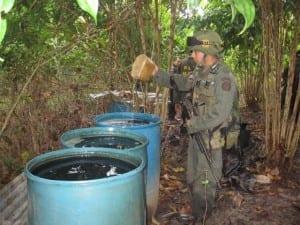 De esta forma la Policía Nacional de los colombianos reafirma su compromiso de continuar su lucha contra todos los grupos narcotraficantes armados ilegales que delinquen en el Departamento del Putumayo.
