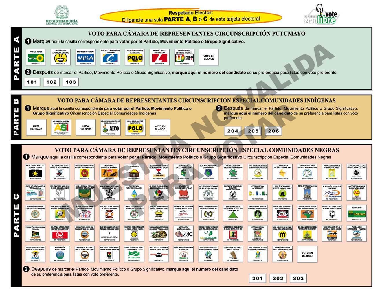 Aprenda en 5 pasos cómo votar por Senado, Cámara y Parlamento Andino el próximo 14 de marzo