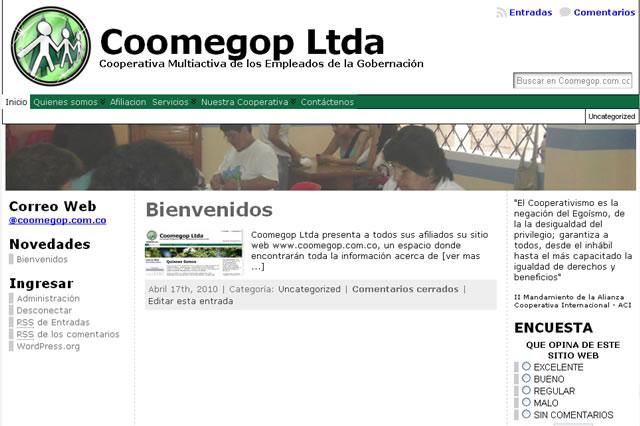 Coomegop Ltda presenta su nuevo sitio en internet