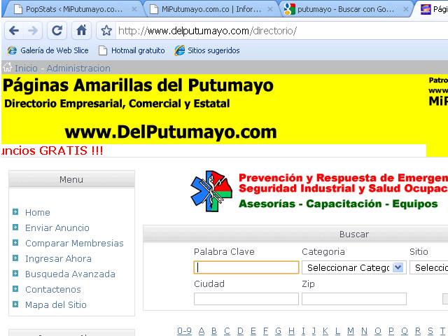 Páginas Amarillas DelPutumayo.com