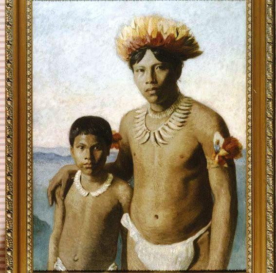 Omarino y Ricudo, dos indígenas putumayenses en Londres.