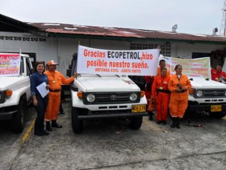 Ecopetrol dona vehículos para atención de emergencias en Putumayo