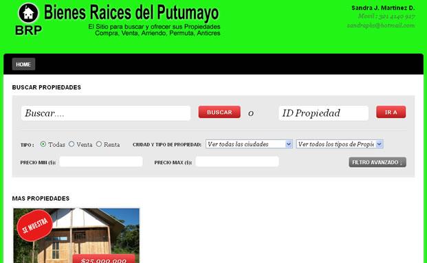 Bienes Raíces del Putumayo – Portal Inmobiliario Virtual