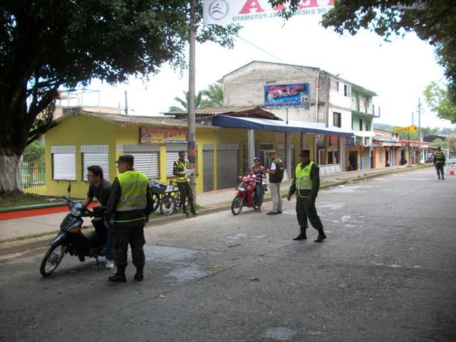 Control al tránsito en Mocoa