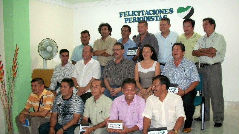 Homenaje a los periodistas del Putumayo en su dia