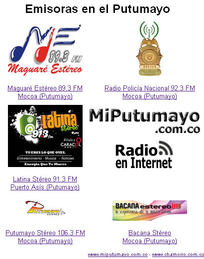 Emisoras del Putumayo en Internet