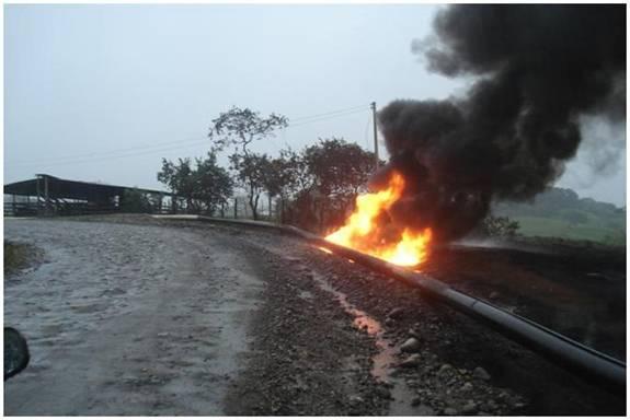 Ecopetrol activó plan de contingencia por atentado contra Oleoducto San Miguel-Orito