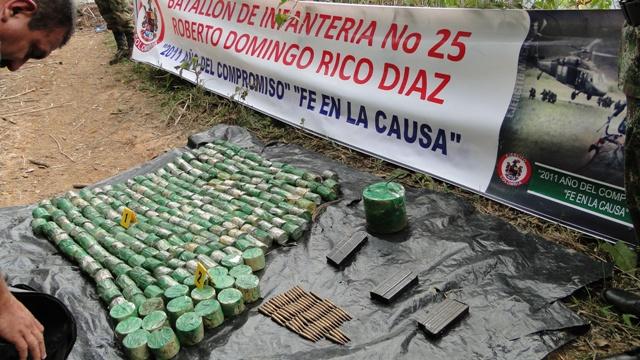 Halla caleta con 273 minas anti persona pertenecientes a las Farc