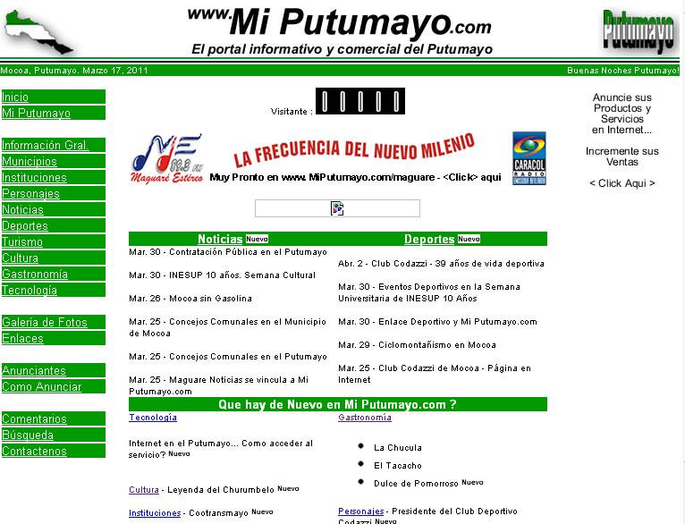7 Años al Servicio del Putumayo… El Inicio