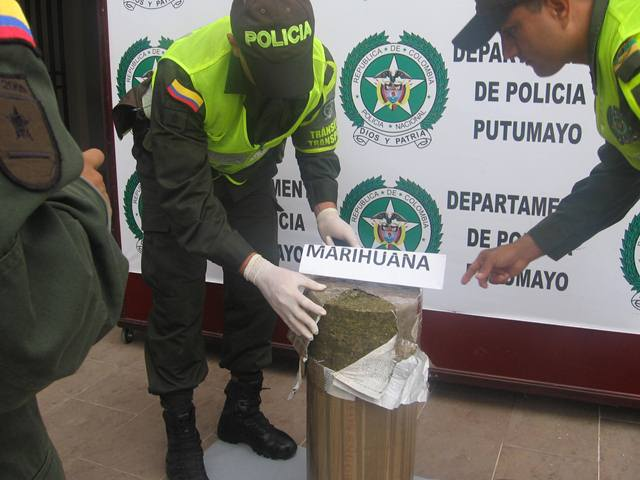 Incautados 40.000 mil gramos de marihuana, que iba con destino al municipio de Puerto Asís.