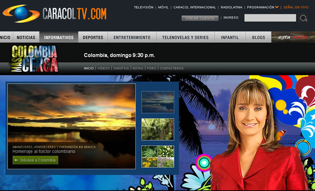 Programa de la señal internacional de Caracol TV celebra aniversario