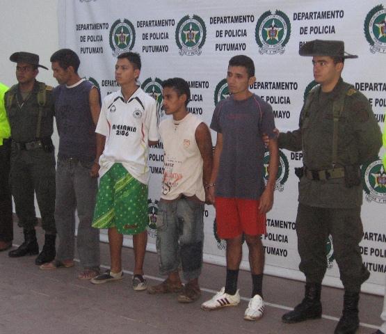 Capturados 4 delincuentes que se dedicaban al hurto en Mocoa.