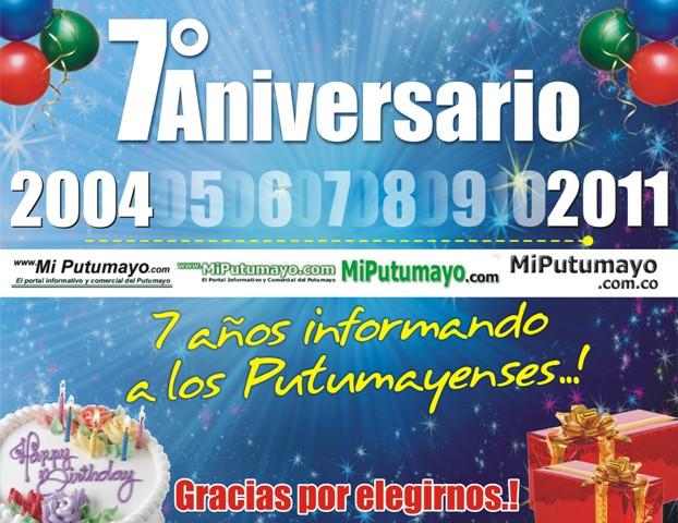MiPutumayo.com.co – Séptimo Aniversario!!!