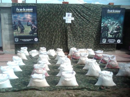 Una tonelada de anfo fue descubierta por tropas de la Brigada Móvil No 13.