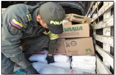 Policía incauta precursores químicos y base de coca