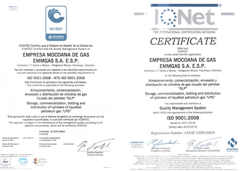 EMMGAS se certifica en ISO 9001 – 2008