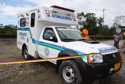 Moderna ambulancia estrena ESE Hospital Sagrado Corazón de Jesús en el Valle del Guamuez
