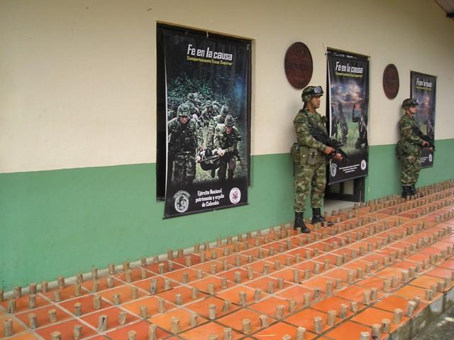 Desmantelado arsenal de minas anti-persona de la farc.