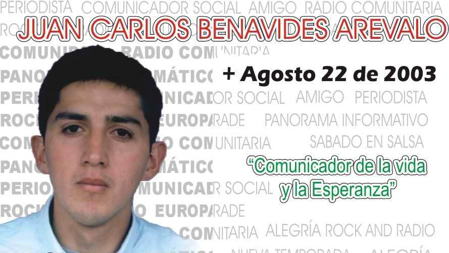 Juan Carlos Benavides Arevalo, comunicador de la vida y la esperanza