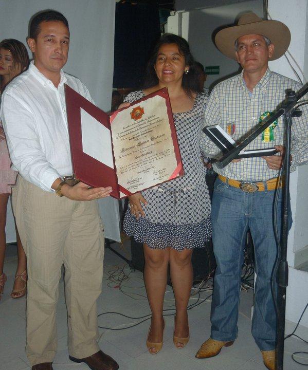 Reconocimiento público al presidente de COGANASIS