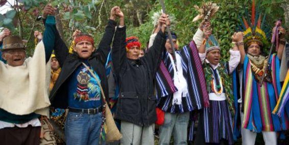 Líderes indígenas invocaron a la madre Tierra en el Galeras