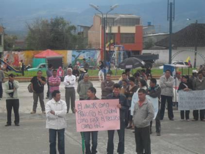 El Valle de Sibundoy marchó en apoyo a la variante San Francisco – Mocoa
