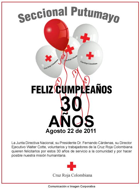 Cruz Roja Colombiana Seccional Putumayo – 30 años
