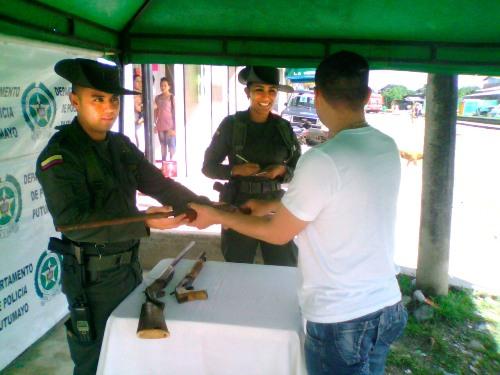 Campaña de desarme en el Valle del Guamuez