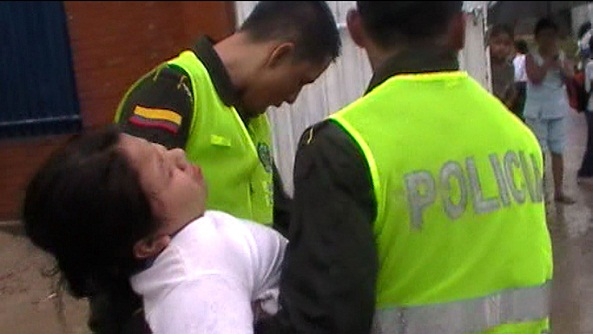 Policía atiende emergencia en IE Ciudad Mocoa