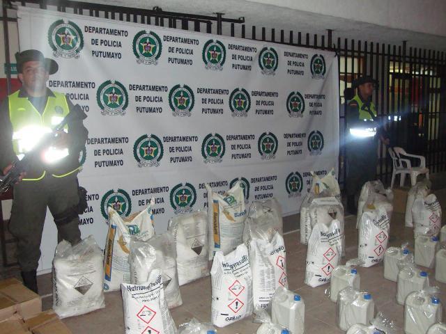 Policía incauta 750Kg de sustancias controladas
