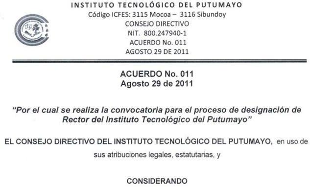 ITP abre convocatoria para Rector