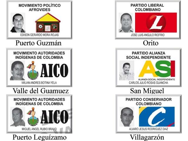 Resultados al 100% en Alcaldías del Putumayo