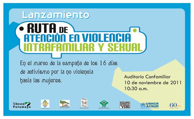 lanzamiento de la campaña Ruta de Atención en Violencia Intrafamiliar y Sexual