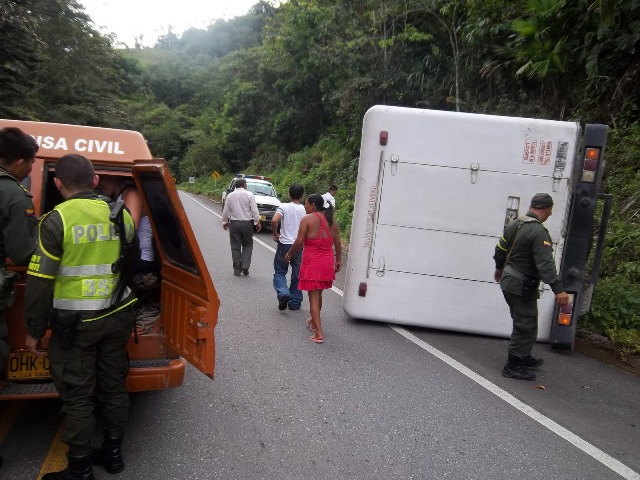 Accidente de transito deja un herido en la vía Mocoa Pitalito