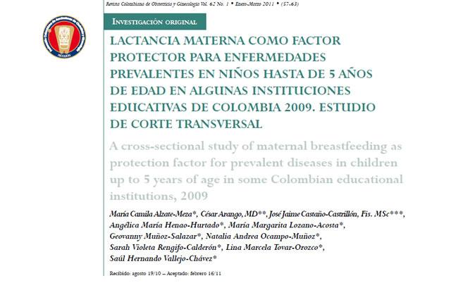 Médico Putumayense participó en investigación sobre lactancia Materna