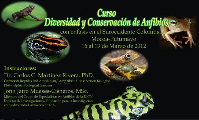 Curso Diversidad y Conservación de Anfibios