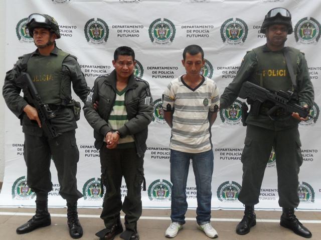 Capturados dos presuntos integrantes del Frente 32 de las FARC en el Putumayo