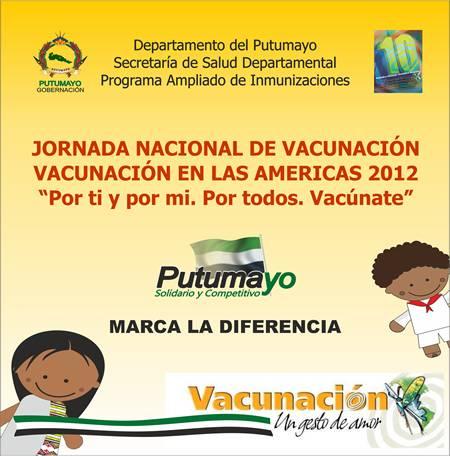 Jornada Departamental de Vacunación – Sábado 28 de Abril de 2012