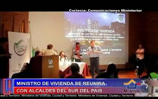 Reunión de Ministro de Vivienda y alcaldes del Putumayo