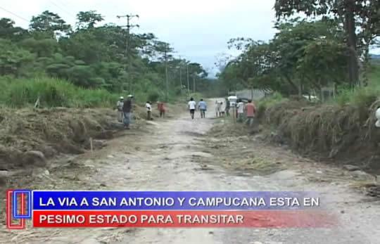 Protestan habitantes y transportadores de la Vía a San Antonio