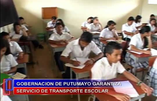 Gobernación garantiza transporte escolar en el Putumayo
