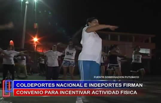 Indeportes Putumayo y Coldeportes Nacional firman convenio