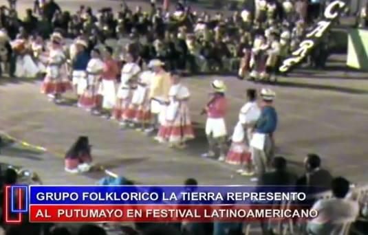 Grupo folklorico la tierra se lucio en Fusagasuga Cundinamarca